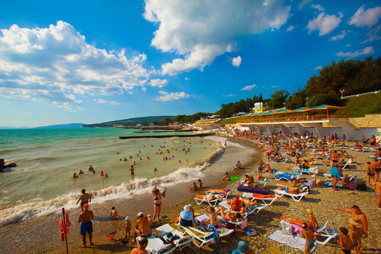 Песчаные пляжи дивноморска фото