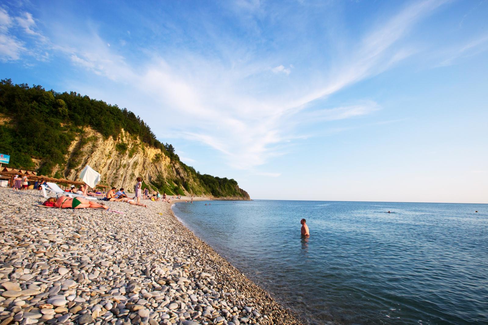 Ольгинка море фото пляжа