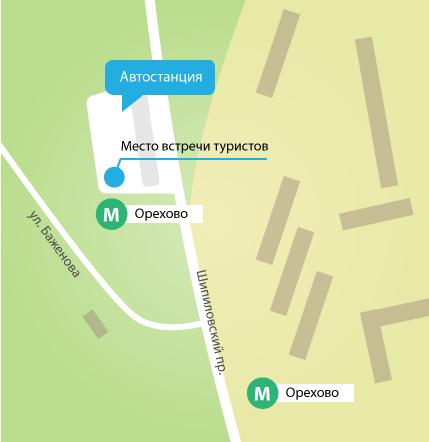 Схема отправления автобуса.