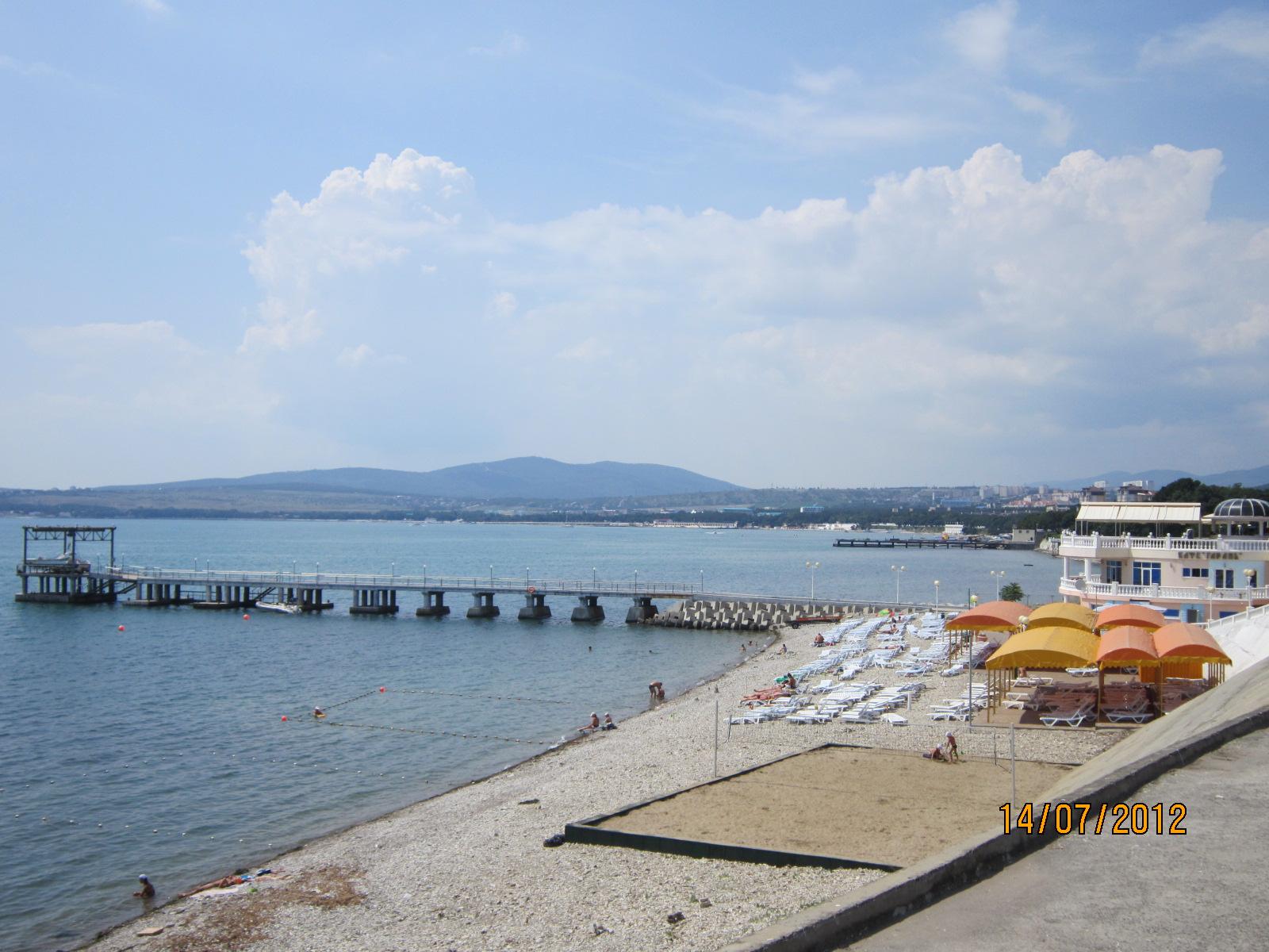 Фото пляжа пансионата сосновая роща в геленджике